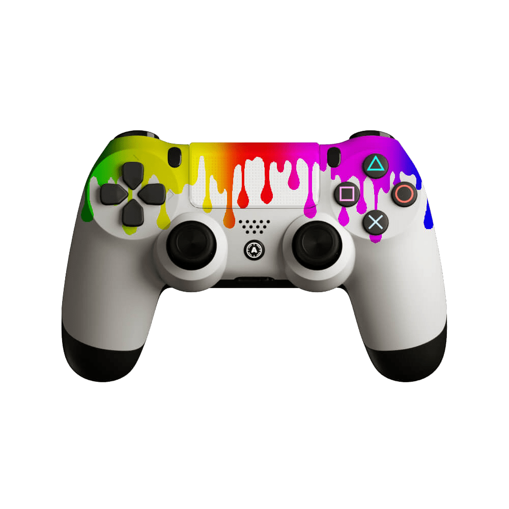 AIM Flowing White PS4 Controller