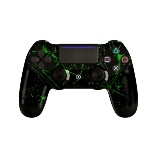 Aim Green Splattern PS4 Controller