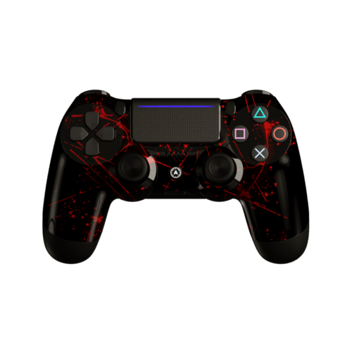 Aim Red Splattern PS4 Controller