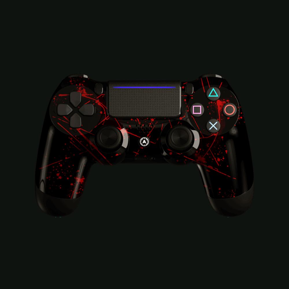 Aim Red Splattern PS4 Controller