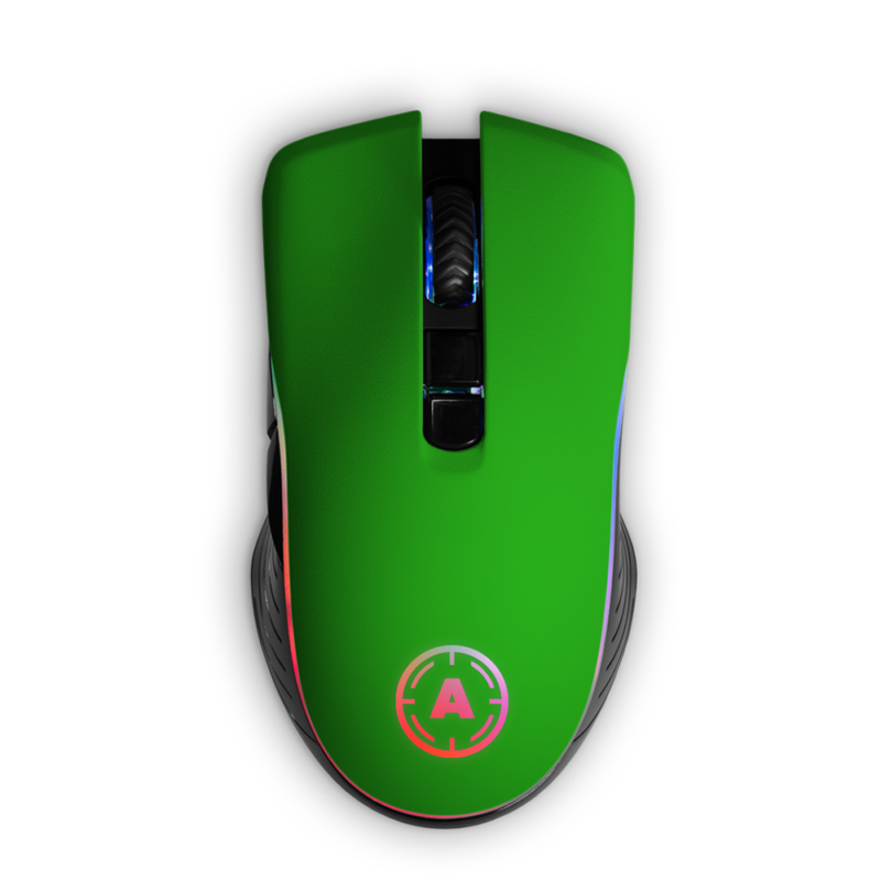Mysz Aim Green Matt RGB