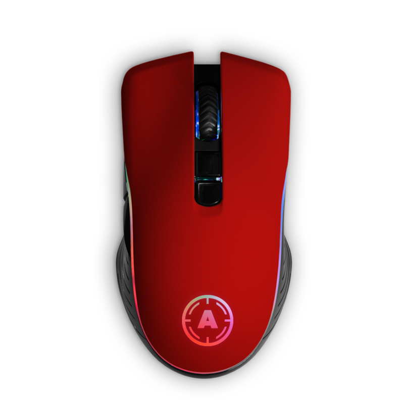 Aim Red Matt RGB Mouse