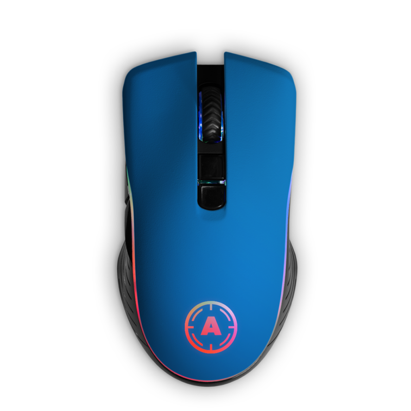 Aim Blue Matt Mouse