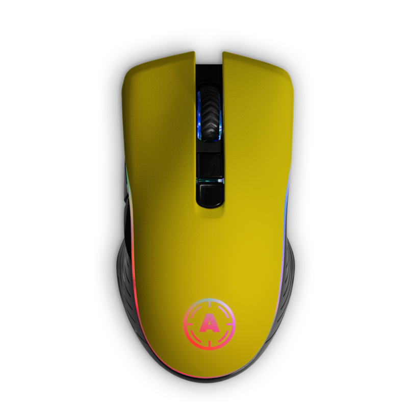 Aim Yellow Matt RGB Mouse