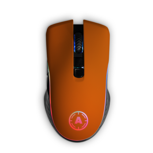 Aim Orange Matt RGB Mouse