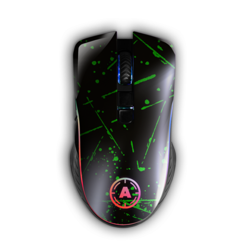 Aim Green Splatter Matt RGB Mouse