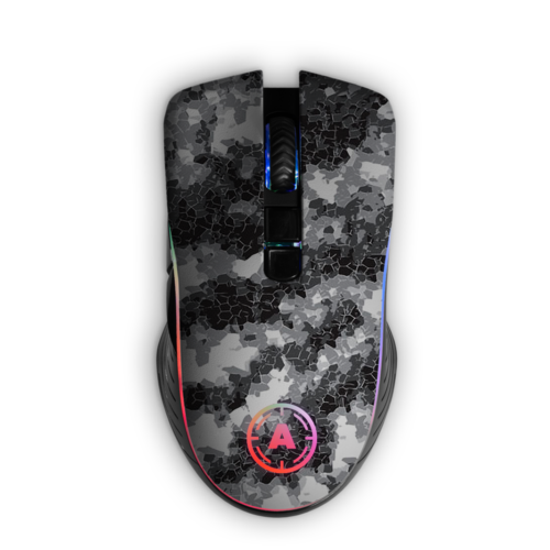 Aim Digi Camo White RGB Mouse