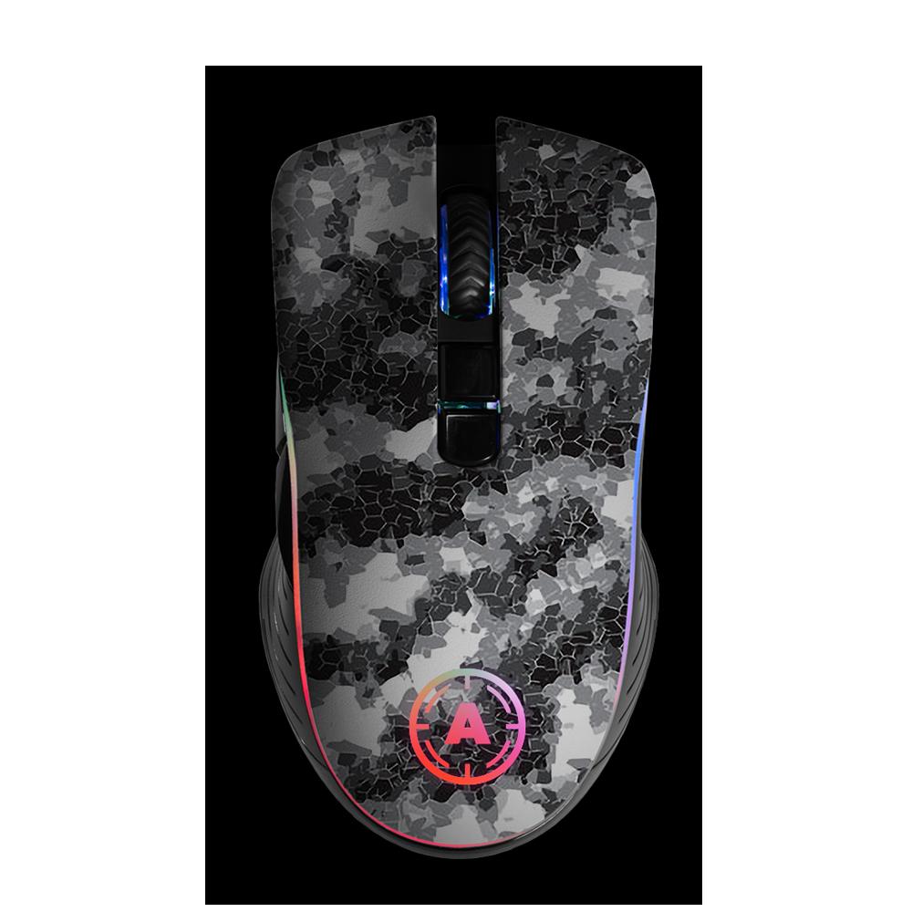Aim Digi Camo White RGB Mouse