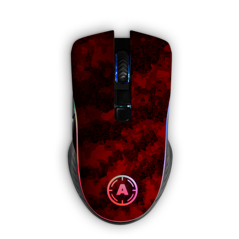 Aim Digi Camo Red RGB Mouse