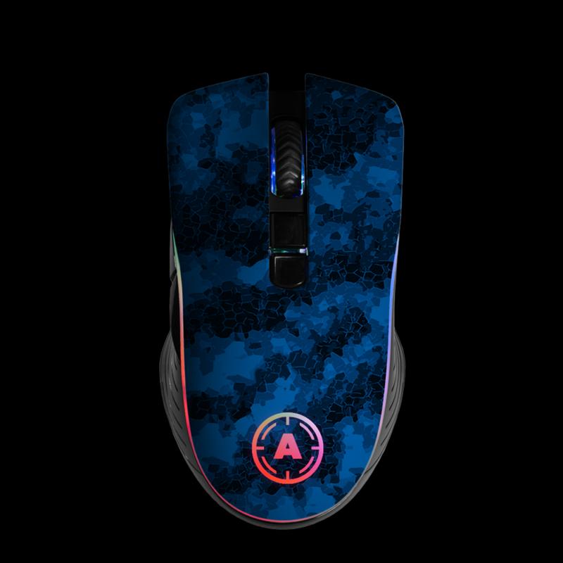 Aim Digi Camo Blue RGB Mouse