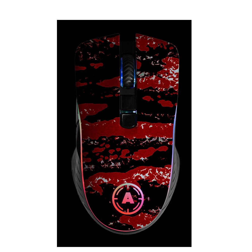 Aim Camo Red RGB Mouse