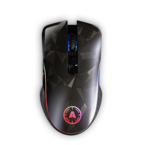 Aim Silver Hologram RGB Mouse
