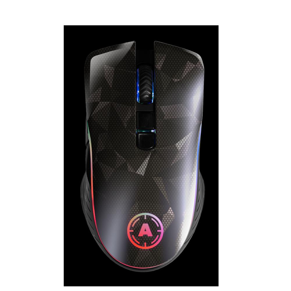 Aim Silver Hologram RGB Mouse