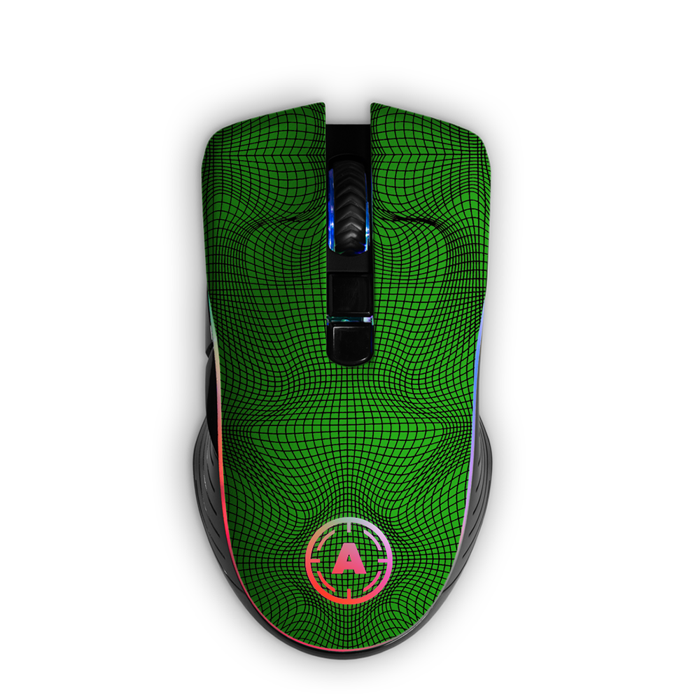 Aim Grid Green RGB Mouse