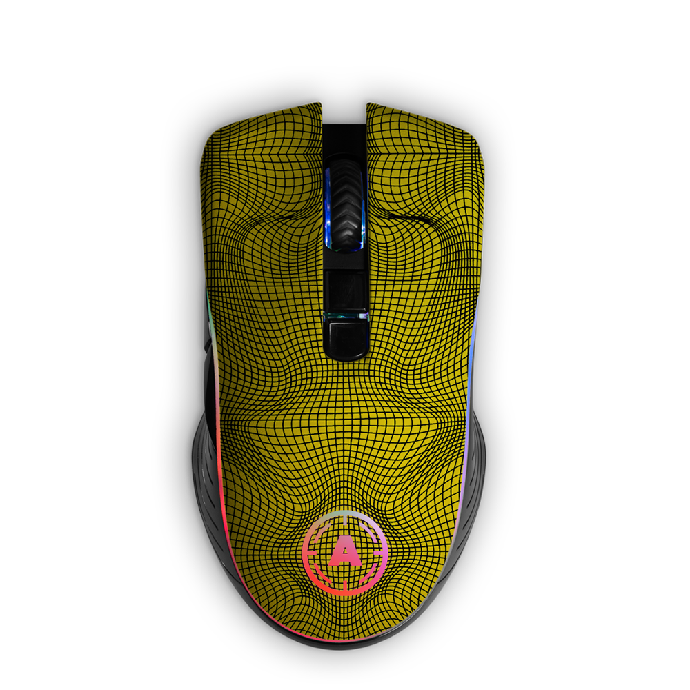 Aim Grid Yellow RGB Mouse