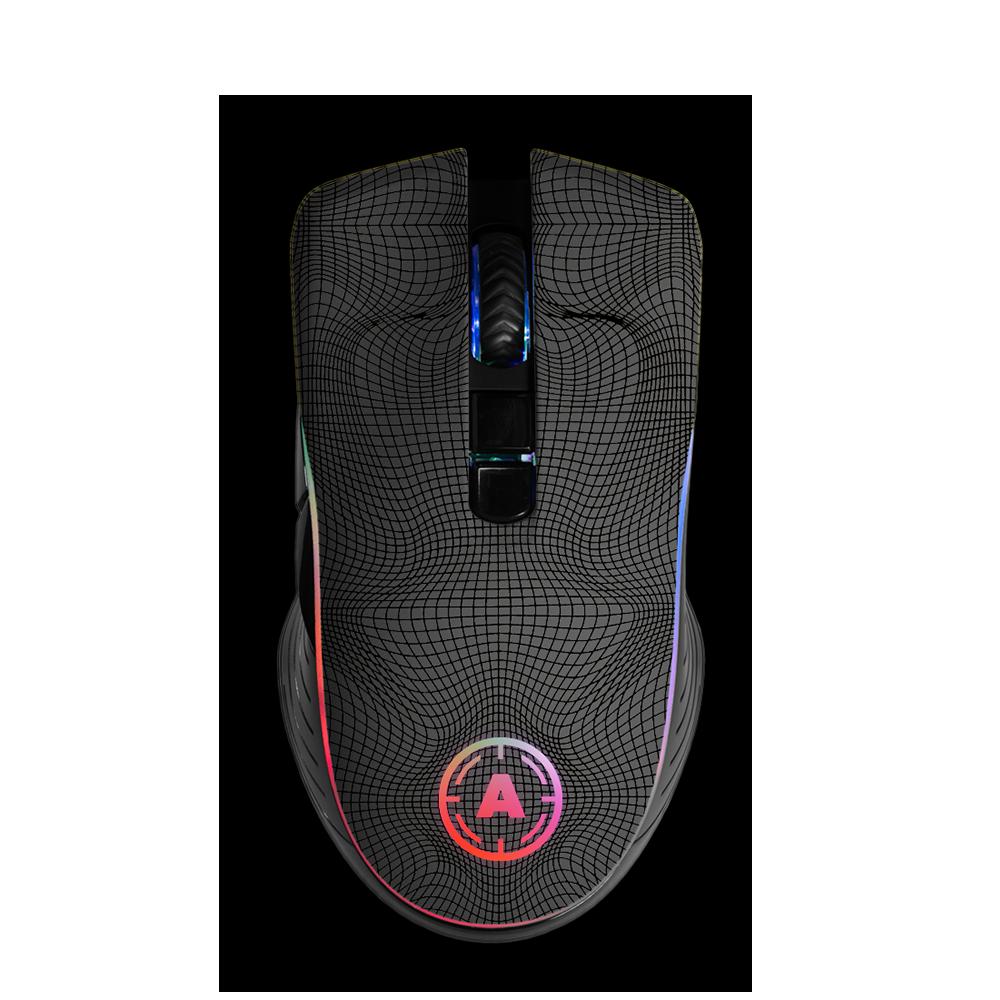Aim Grid Grey RGB Mouse