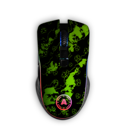 Aim ReaperZ Neon Green RGB Mouse