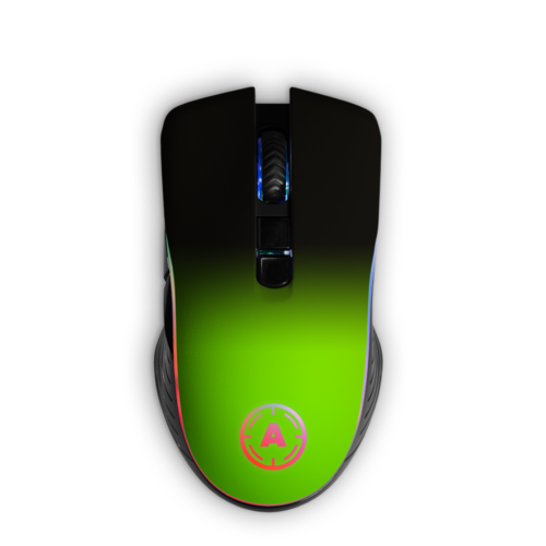 Aim Neon Green Shadow RGB Mouse