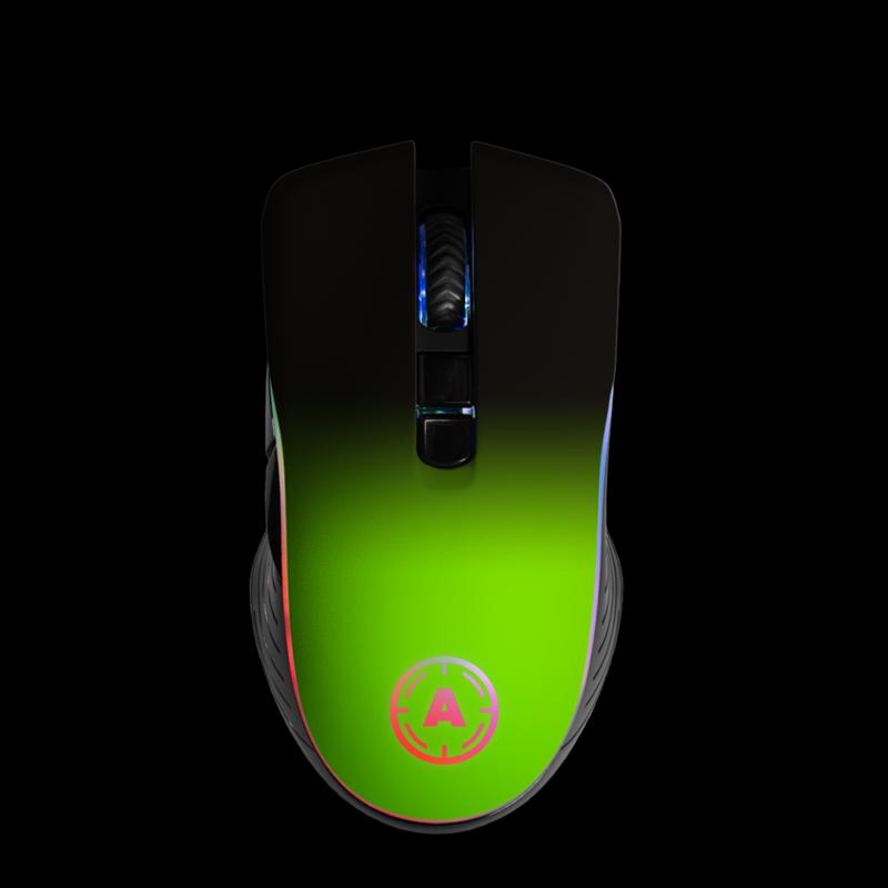 Aim Neon Green Shadow RGB Mouse