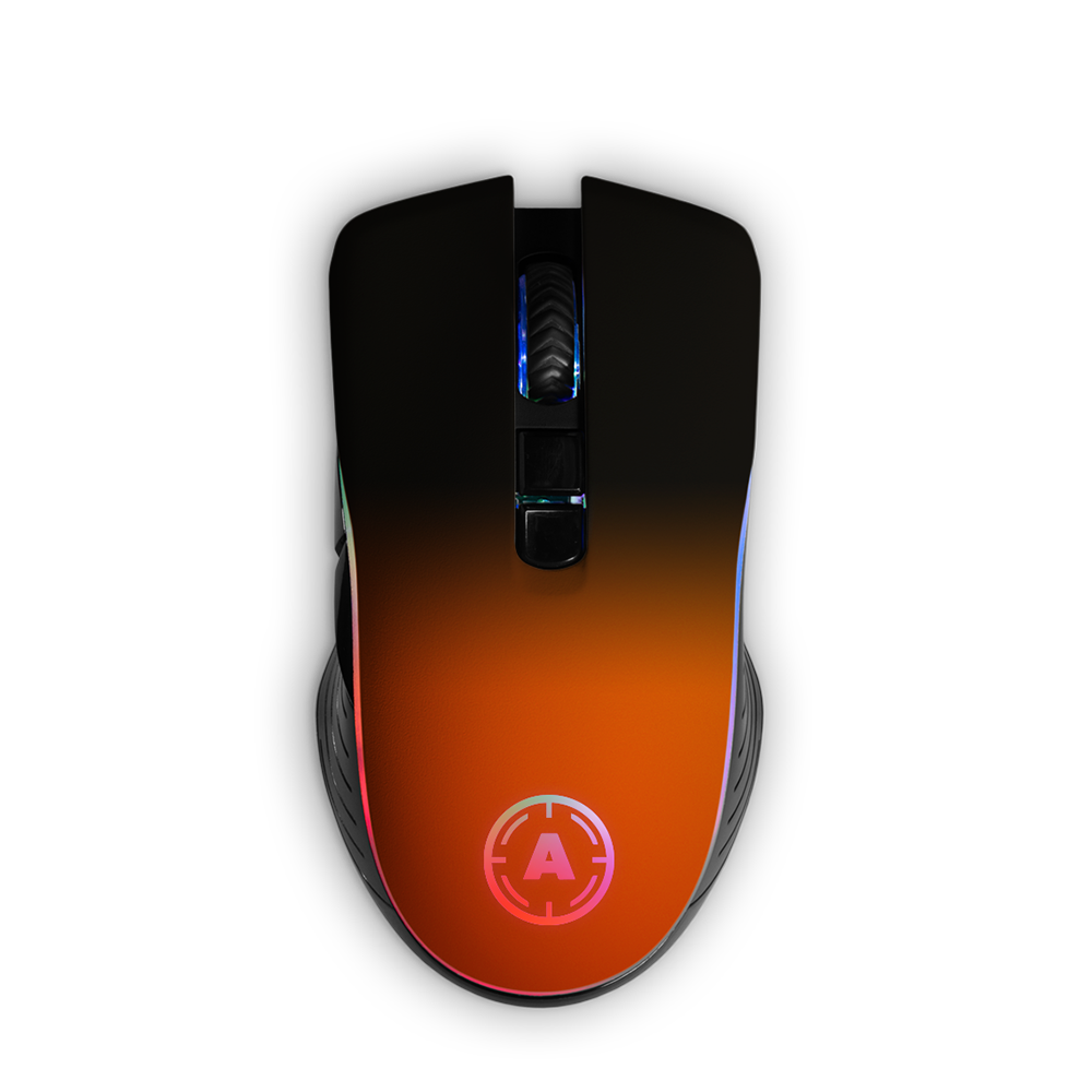 Aim Neon Orange Shadow RGB Mouse