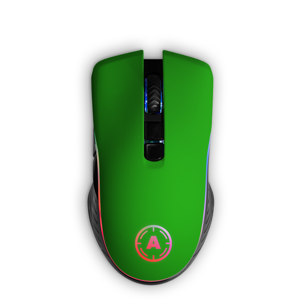 Aim Green Soft Touch RGB Mouse