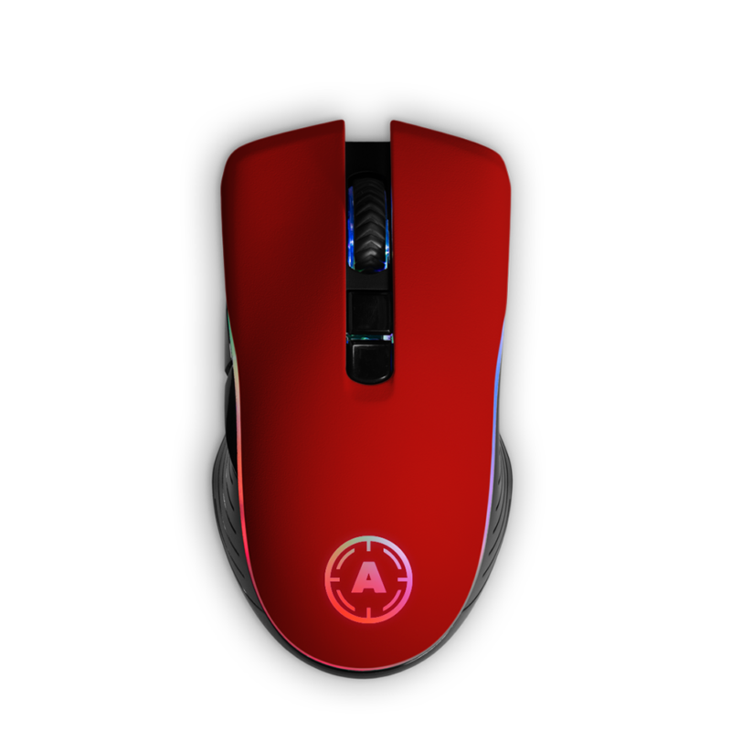 Aim Red Soft Touch RGB Mouse