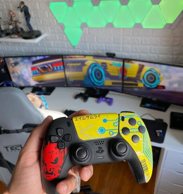 Rate This Controller 🎮 Owner=▶️ charles_ricardo__ ◀️📸  Controller By aimcontrollers ------------------------------------------  Follow spardagaming For More 📸 Turn On Post Notifications 🔊  Thanks For The Support Everyone✌🏽 #cyberpunk #cyberpunkgame #cyberpunk2077  #cdprojektred #playstationnetwork #playstationnation #sonyplaystation #games #gamer #gaming #videogame #videogames #instagaming #instagame #gamestagram #customcontroller #controller #dualsense #playstation #playstation5 #ps5 #ps5controller #playstation4 #ps4 #ps4pro #ps4share #ps4games #aimcontroller #aimcontrollers Werbung